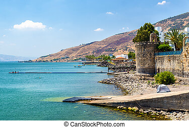 The Leaning Tower erected by Zahir al-Umar in Tiberias -...
