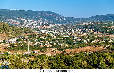 Panorama of Galilee near Nazareth - Israel - Panorama of...