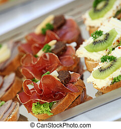 Appetizers or finger food - Appetizers and finger food -...