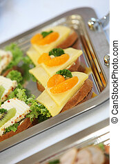 Canap - appetizers - close-up