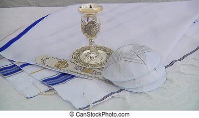 Bar Mitzhvah jewish religious symbol - Yarmulke Bar Mitzhvah...