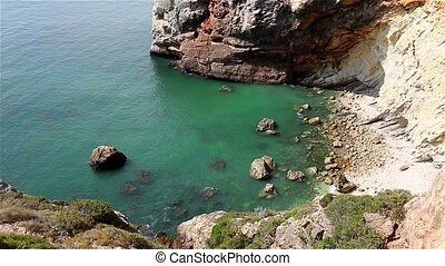 Private rocky bay west coast Portugal - Private rocky bay of...