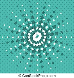 pointed stars background wallpaper design