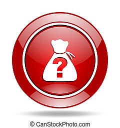 riddle red web glossy round icon - riddle round glossy red...