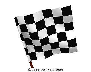 Finishing checkered flag.