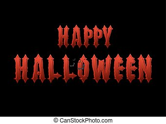 Happy Halloween emblem. Gothic bloody letters. Logo for dreaded holiday