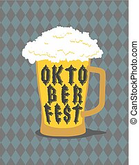 Oktoberfest Mug Beer typography. Alcohol for national...