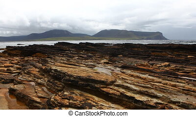 Timelapse view of Warbeth Beach in Orkney