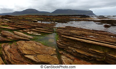 Timelapse view of Warbeth Beach, Orkney