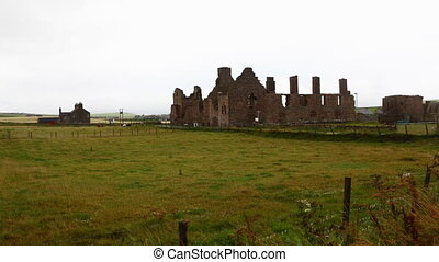 Timelapse of Earl's Palace in Birsay, Orkney, Scotland - A...