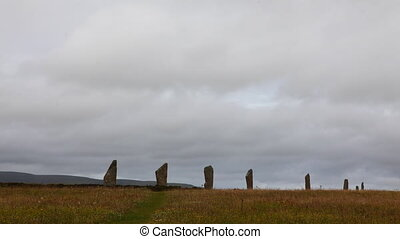 The neolithic Ring of Brodgar, Orkney in Scotland - The...