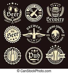 Light Beer Emblem Set