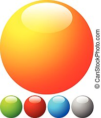Bright, vibrant button, badge design elements with blank...