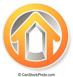 Contour house / building symbol, icon or logo