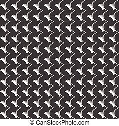 Pattern with wavy, billowy intersecting lines Grid of...
