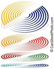 formas, Espiral, señal, círculos, colores, included,...