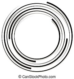 Concentric random circles with dynamic lines. Circular...