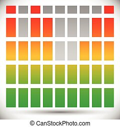 Spectrum color EQ - equalizer template rectangle bars