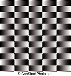 Rectangles with grayscale, contrasty gradient fill. Seamless pattern