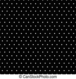 Seamlessly repeatable pattern with dots, circles. Monochrome...