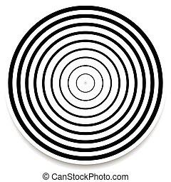 concéntrico, círculos, anillos, Extracto,...