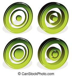 reticle, blanco,  (more, iconos,  versions), marca,  cross-hair, círculos, Diana, concéntrico