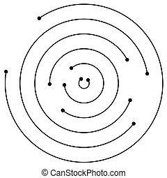Random concentric circles with dots Circular, spiral design...