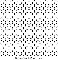 Seamlessly repeatable pattern with dots, circles Monochrome...