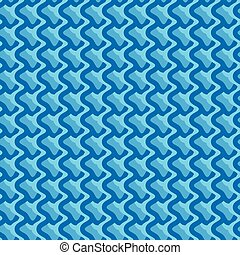 Pattern with wavy, billowy intersecting lines. Grid of...