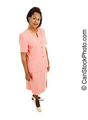 Serious Businesswoman Full View - Beautiful African-American...