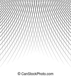 Grid - mesh of dynamic curved lines. Abstract geometric...