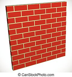 Wall in perspective. Brickwall for construction, building or...