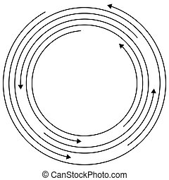 Circular arrows - Random concentric circles with arrows for...