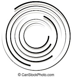 Concentric random circles with dynamic lines Circular...