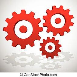 Gearwheel, rack wheel, gear icon, sign Service, development,...