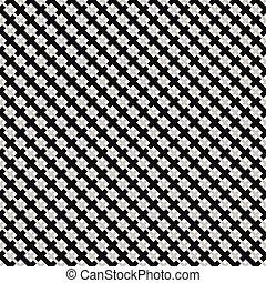 Grid, mesh pattern with interlacing lines. Cross, X pattern....