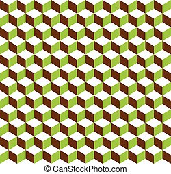 3d cubes tricolor geometric background - Seamlessly...