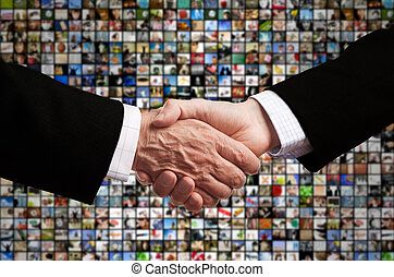 media business - television or internet deal, made from my...
