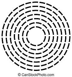 concéntrico, rayado, línea, círculos,...