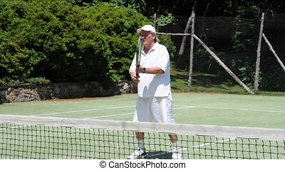 tennis player volley stroke