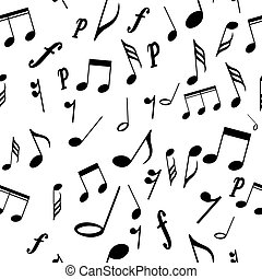 Seamless pattern musical notes