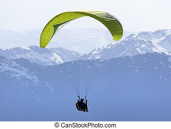 Between Land And Sky - Paragliding high in Alaskan mountains...