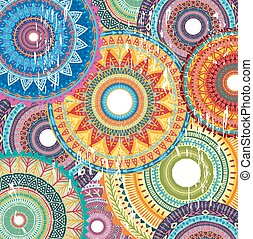 Background with Round Ornament Pattern