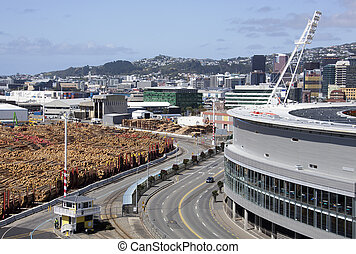Industrial Wellington - The view of Waterloo Quay stretching...