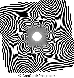 Circular radial linese geometric pattern Converging -...