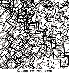 Random chaotic lines abstract grayscale texture / pattern