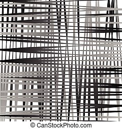 Irregular mesh, grid with random lines. Abstract geometric...