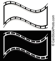 Film strip shape elements with distortion for photography /...