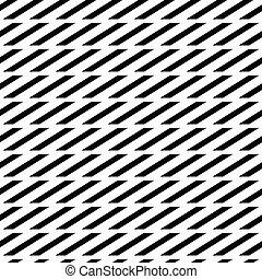 patrón, seamless, cuadrados, paralelogramos, Monocromo,...