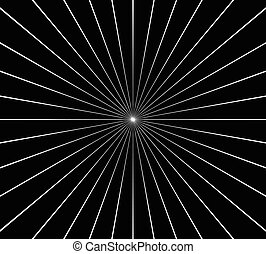 circular, radial, Irradiar, líneas, elemento, Extracto,...